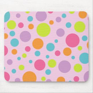 Colorful Polka Dots Mousepad