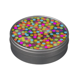 Colorful Polka Dots on Jelly Belly Candy Tin