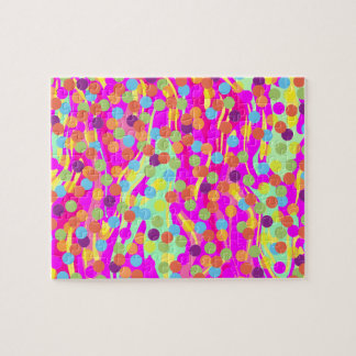 Colorful Polka-Dots on Swirls Puzzle