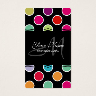 Colorful Polka Dots Pattern Business Card