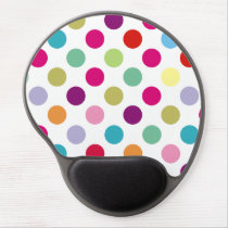Colorful Polka Dots Pattern Gel Mouse Pad