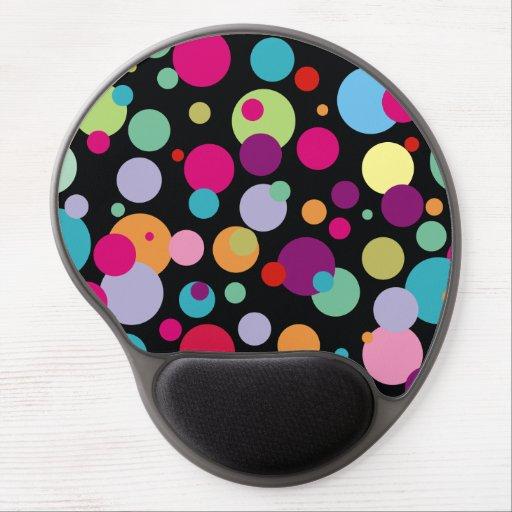 Colorful Polka Dots Pattern Gel Mousepads