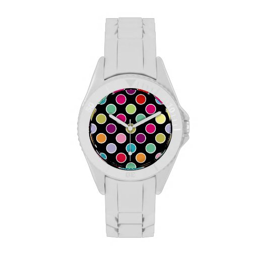 Colorful Polka Dots Pattern Watches