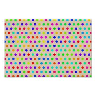 Colorful polka dots photo art