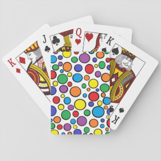 Colorful Polka Dots Playing Cards