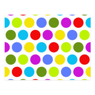 Colorful Polka Dots Postcard