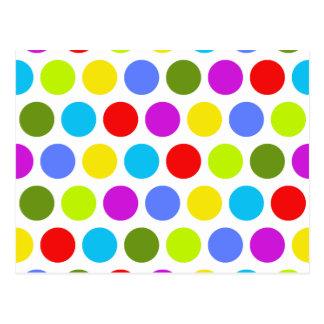 Colorful Polka Dots Postcard