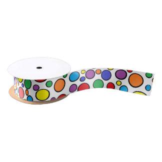 Colorful Polka Dots Ribbon Satin Ribbon