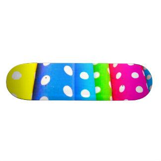 colorful_polka_dots skateboard deck