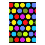 Colorful Polka Dots Stationery