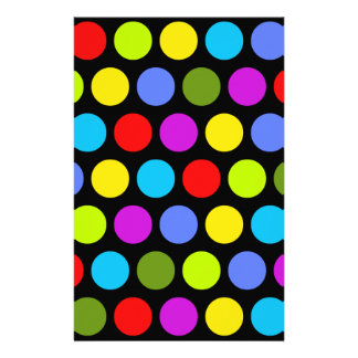 Colorful Polka Dots Stationery Paper