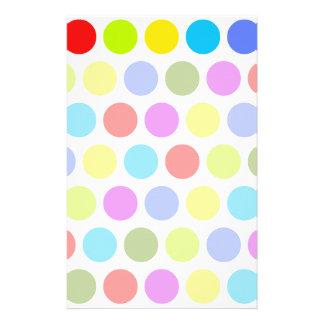 Colorful Polka Dots Stationery Design