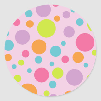 Colorful Polka Dots Sticker