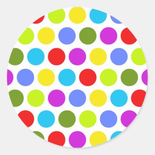 Colorful Polka Dots Sticker