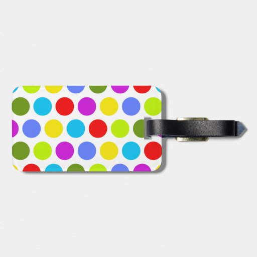 Colorful Polka Dots Tags For Luggage