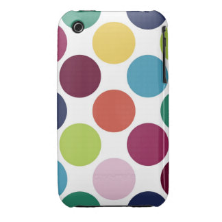 Colorful Polka iPhone 3G/3GS Barely There™ Case iPhone 3 Covers