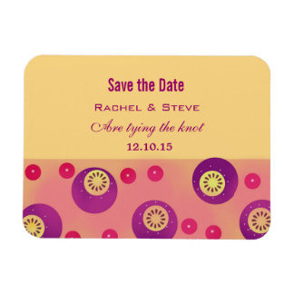 Colorful Polka Pattern Save the Date Flexi Magnet
