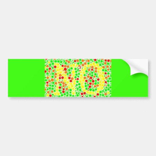 colorful_polkadots optical illusions bumper stickers