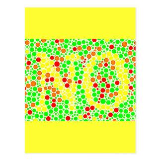 colorful_polkadots optical illusions postcard