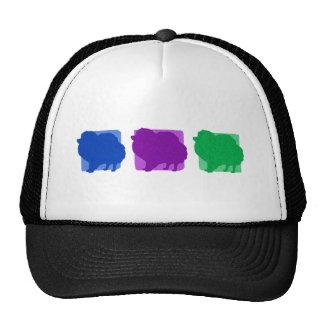 Colorful Pomeranian Silhouettes Trucker Hat