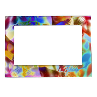 Colorful Pond Magnetic Picture Frame