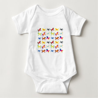 Colorful Ponies Baby Bodysuit