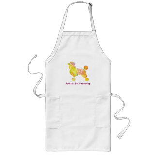 Colorful Poodle Pet Grooming Service Long Apron