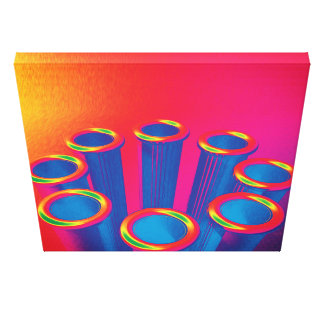 Colorful Pop Art Cylinders Canvas Print