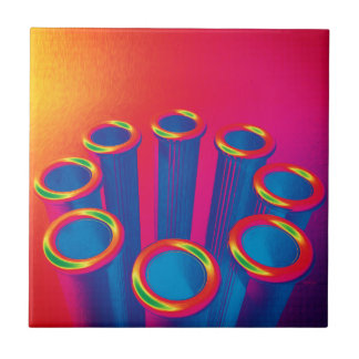 Colorful Pop Art Cylinders Tile
