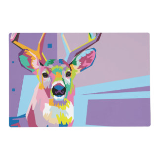 Colorful Pop Art Deer Portrait Placemat