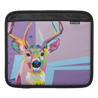 Colorful Pop Art Deer Portrait Sleeve For iPads