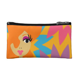 Colorful Pop Art Diva  Cosmetic Case