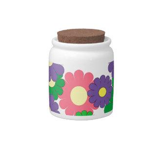 Colorful pop art flowers