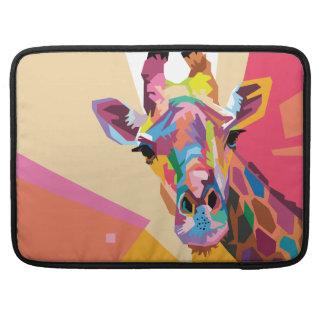 Colorful Pop Art Giraffe Portrait Sleeve For MacBook Pro