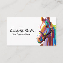 Colorful Pop Art Horse Business Card
