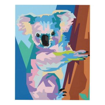 Beach Themed Colorful Pop Art Koala Portrait Panel Wall Art