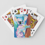 "Colorful Pop Art Koala Portrait Playing Cards<br><div class=""desc"">Shades of blue,  purple,  pink,  and brown come together in this incredibly colorful pop art portrait of an Australian koala that&#39;s both trendy and modern.</div>"