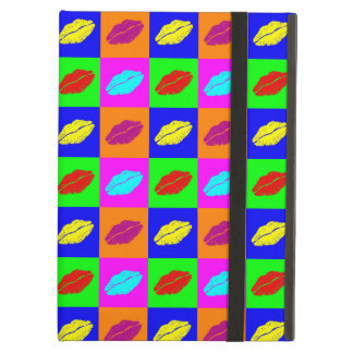Colorful pop art lipstick kiss case for iPad air