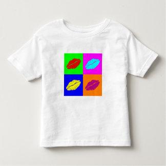Colorful pop art lipstick kiss toddler shirt
