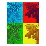 Colorful Pop Art Oak Leaves Letterhead