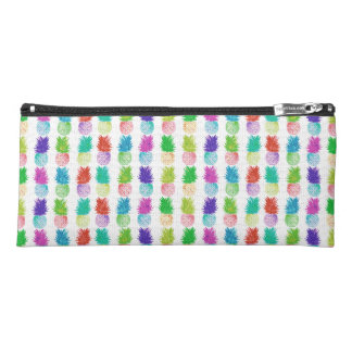 Colorful pop art painting pineapple pattern pencil case