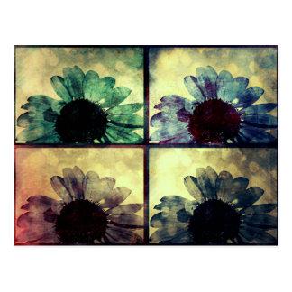 Colorful Pop Art Sunflowers Postcard