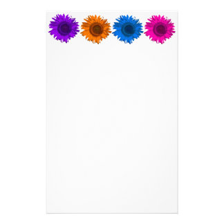 Colorful Pop Art Sunflowers Writing Paper