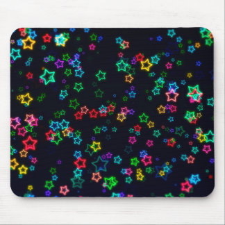Colorful Pop Neon Star Mouse Pad