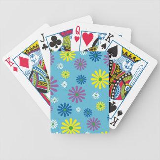 Colorful popart flower pattern card decks