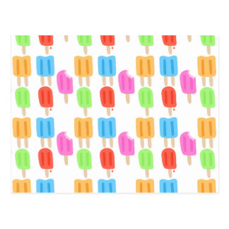 Colorful Popsicle Pattern Postcard