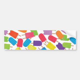 Colorful Popsicles Bumper Stickers