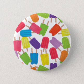Colorful Popsicles! Pinback Button