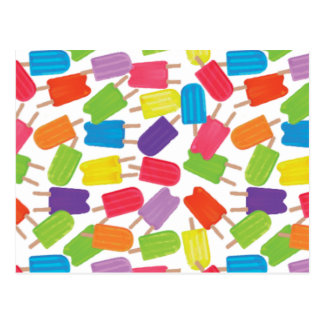 Colorful Popsicles! Postcard