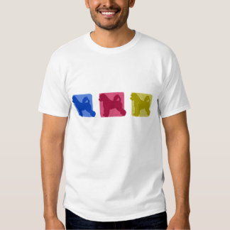 Colorful Portuguese Water Dog Silhouettes T-Shirt
